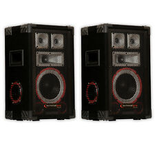 Technical Pro VMPR8 Passive Speaker Pair 1400 Watts PA DJ Karaoke Studio 2VMPR8