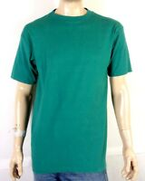 vtg 80s 90s Wilson Green / Purple Rolled Sleeves T-Shirt Blank Plain USA made L