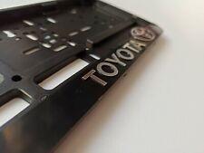 """Black EURO LICENSE PLATE TAG HOLDER MOUNT ADAPTER BUMPER FRAME BRACKET """"Toyota"""""""