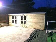 20x10' Wooden Garden Sheds Ultimate Tantalised Summerhouse/Office 4' Double Door