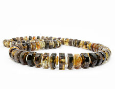 Unique Genuine Baltic Amber Adult Necklace 51 cm/20.1 in Mixed Green Unisex