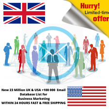 New 23 Million UK & USA +100 000  Email Database List for Business Marketing