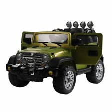 HOMCOM Macchinina Elettrica per Bambini Modello Jeep Cintura di Sicurezza Musica
