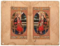 Handmade Indian Miniature Painting - Mughal Emperor Shahjahan & Empress Mumtaz
