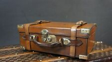 Very Impressive Antique Oak & Leather Cartridge Case Immaculate