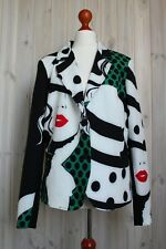 Rinascimento Short Ladies Jacket Blazer Made In Italy Size XL Green Multi - Colo