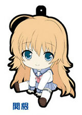 Angel Beats Shiori Sekine Rubber Phone Straps Petanko Licensed NEW
