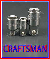 CRAFTSMAN HAND TOOLS 3pc 1/4 3/8 1/2 ratchet wrench socket drive ADAPTER set !