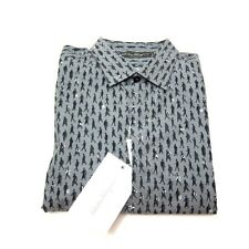 J-3795111 Nuevo Salvatore Ferragamo Verde Grigio People Print Camisa Oxford Size