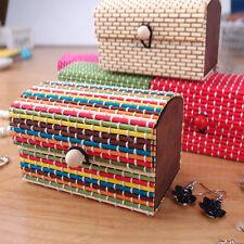Bamboo Storage Box Home Organizer Jewelry Beads Boxes Wooden Trinket Storage
