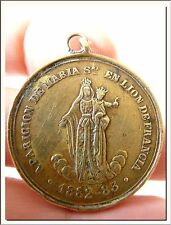 ANTIQUE 1883's OL of LYON & PRAYERS TO APPEASE THE ANNOYANCE OF MY SON MEDAL !!!