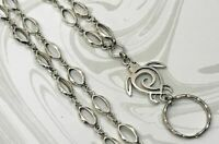 Silver Sea Turtle Silver Chain Lanyard, ID Badge Holder, Breakaway Option
