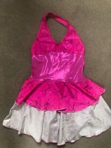 1ST POSITION - PINK & SILVER DANCE LEOTARD - GIRLS SIZE 3A - 7-9 YEARS