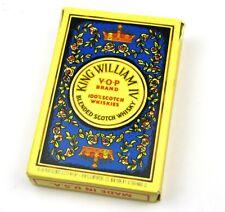 King William IV VOP Scotch Whiskey Spielkarten Karten USA Playing Cards