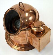 Copper Binnacle Compass w/ Oil Lamp ~ Nautical Maritime