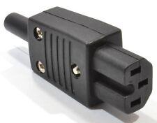 PLUG REWIRABLE IEC SOCKET C15 HOT,XBOX 360 PC LCD TV KETTLE LEAD POWER CONNECTOR