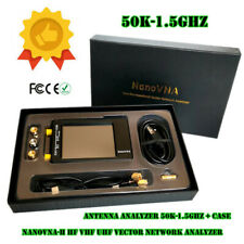50K-1.5GHz NanoVNA-H HF VHF UHF Vector Network Analyzer Antenna Analyzer + Case