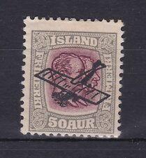 BD371) Iceland 1929 50a Grey & Purple Air