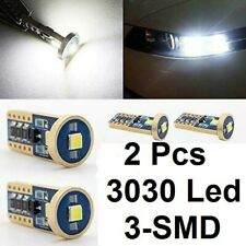 2x T10 168 194 3030 LED 3-SMD Car Light Bulb 2825 158 192 W5W Canbus White DC 12