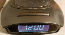 Homedics Soundspa Auto Set Dual Alarm Clock Radio Nature Sounds Time Projection