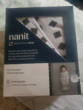 Nanit - Breathing Wear Starter Pack, Swaddle & Breathing Band (Small) 0-3 Months