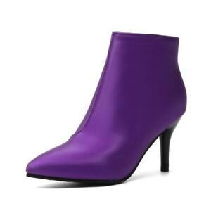 Elegant Women Ladies Pointy Toe Stilettos Ankle Boots High Heel Outdoor Party D