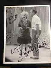 Vintage Phyllis Diller Autograph Picture on Stage with Bob Hope!  PSA guarantee