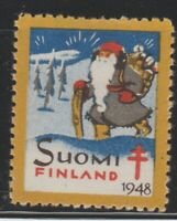 Finland Charity Cinderella Revenue stamp 9-7-20- NOTE->Thin on back stamp