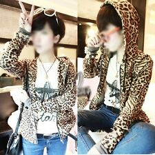 AU SELLER Leopard Animal Pattern Hoddie Jacket SZ S-M/AU6-10 T071