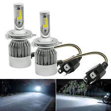COPPIA LAMPADE LED DA AUTO FARI H4 MOTO KIT LAMPADINE 36W LUCE BIANCA 6000K FARO