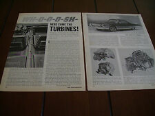 1963 CHRYSLER JET TURBINE CONCEPT CAR - ORIGINAL 1963 ARTICLE