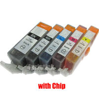 5pk NEW INK With CHIP For CANON PGI-225BK CLI-226BK C/M/Y  Pixma MG5220 5320