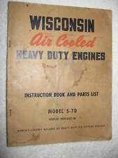 WISCONSIN S-7D ENGINES INSTRUCTION & PARTS MANUAL