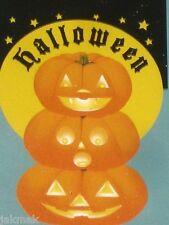 Halloween Welcome Flag Grinning Jack-O-Lantern Totem Pumpkins Large Applique