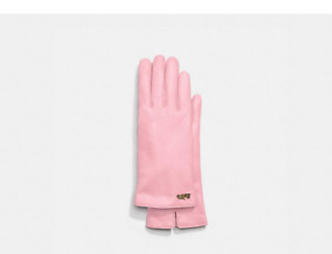 NWT COACH Horse And Carriage Leather Tech Women's Gloves  MSRP $150
