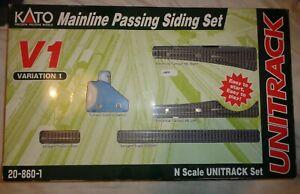 Kato 20-860 V1 Passing Siding Set Boxed excellent                     1662 5202