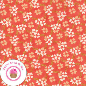 Moda ELLA AND OLLIE Strawberry Coral Floral 20302 11 & Fig Tree QUILT FABRIC