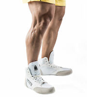 TITAN MENS HIGH TOP GYM SHOES BOOTS WEIGHT LIFTING BODYBUILDING POWER S113 WHITE
