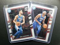2017-18 Donruss Optic Joel Embiid & Ben Simmons Duo Lot, Philadelphia 76ers