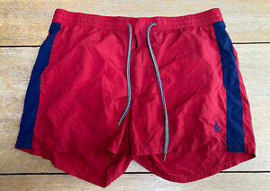 """POLO  RALPH LAUREN MENS SWIMMING SHORTS RED SIZE MED 32"""""""
