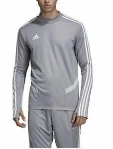 adidas Men's Soccer Tiro 19 Warm Up Training Top Pullover Sweatshirt Grey Medium