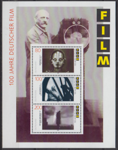 GERMANY 1995 CINEMA CENTENARY MINATURE SHEET SET MINT NEVER HINGED