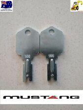 2x Mustang 166 Skid Steer Digger Key Forklift Gradall Hyster IR Yale Gehl Cat