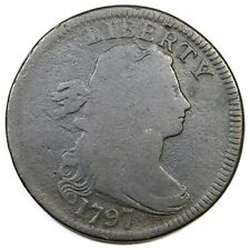 1797 S-139 Eds Draped Bust Large Cent Coin 1c