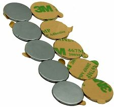 "3/4"" x 1/16"" Disc Magnets - Adhesive Backed"