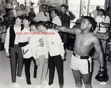 Muhammad Ali with The Beatles Autographed 8x10 Photo  (RP)