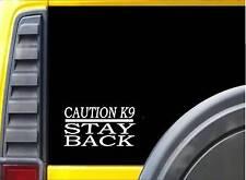 Caution K9 Stay Back Sticker k213 6 inch Malinois German Shepherd dog decal