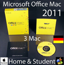 Microsoft Office Mac 2011 Home & Student 3 Mac Box + DVD Family Pack OVP