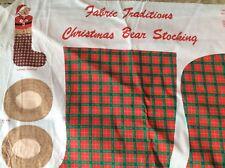 FABRIC TRADITIONS CHRISTMAS BEAR STOCKING PANEL