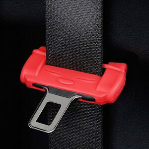 Universal Car Safety Belt Buckle Protector Silicon Anti-Scratch Seat Belt Clip